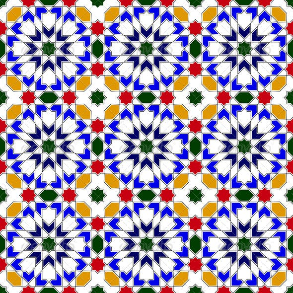 Mosaic in traditional Islamic design