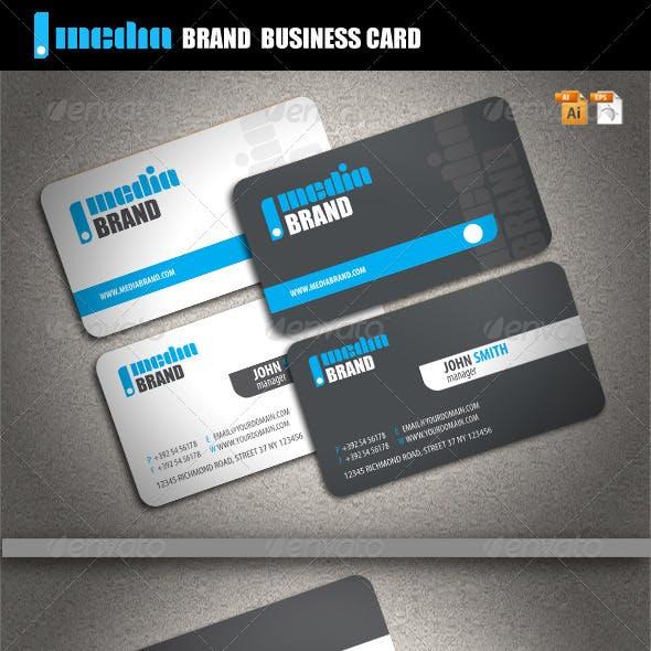 Media Brand Business Card
