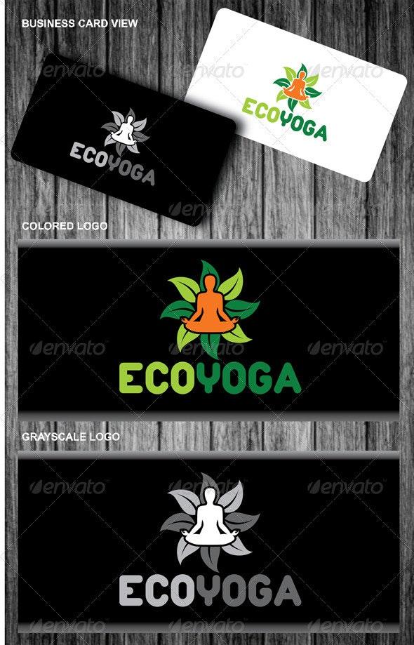 Eco Yoga Logo - Symbols Logo Templates