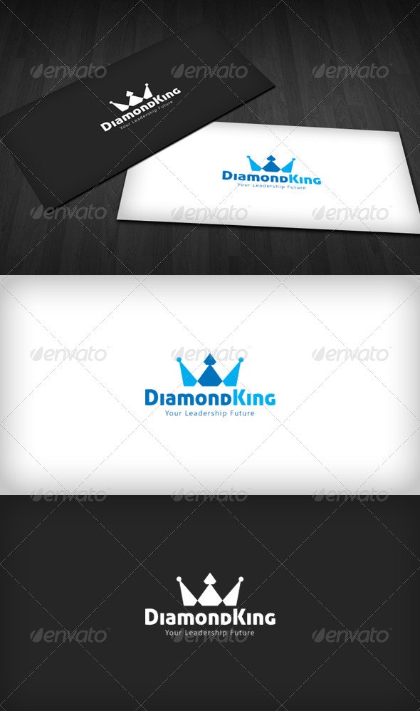 Diamond King Logo - Vector Abstract