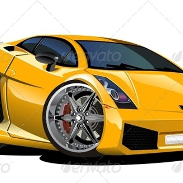Vector Cartoon Sport Car