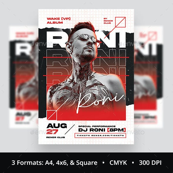 DJ Flyer Urban Hip Hop