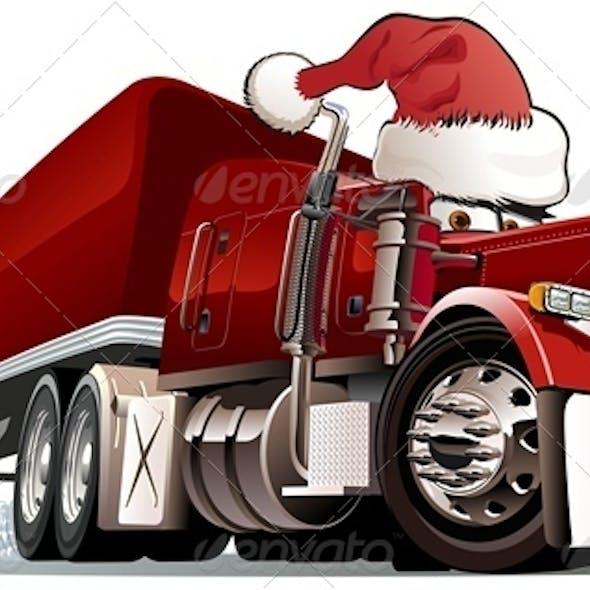 Cartoon Christmas Cargo Truck