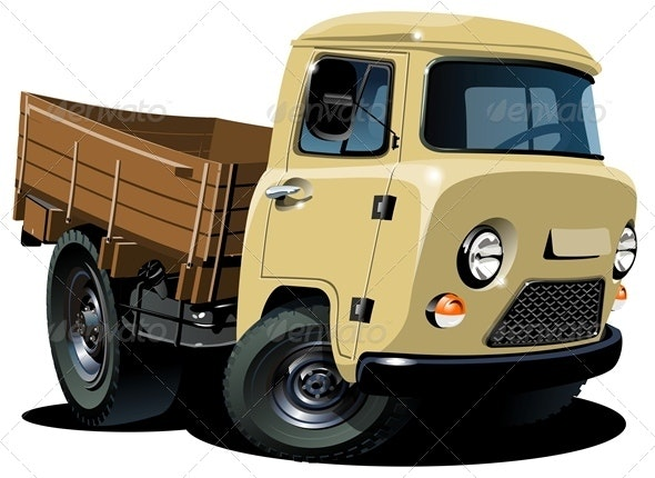 Cartoon Delivery Pickup 4x4 - Man-made Objects Objects