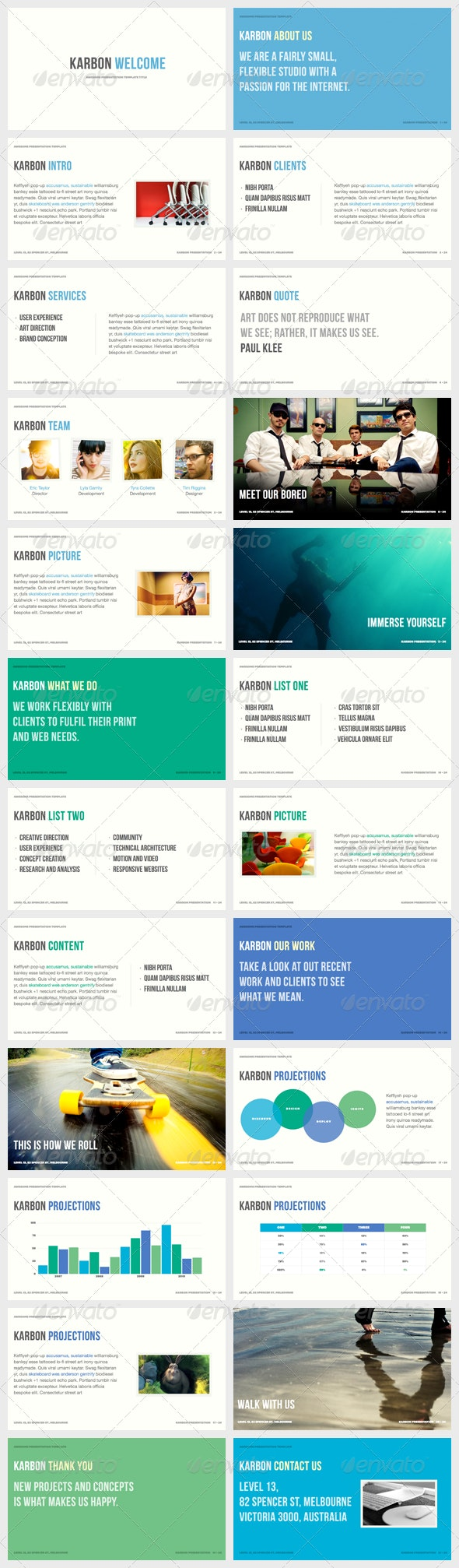 Karbon - Keynote Presentation Template - Creative Keynote Templates