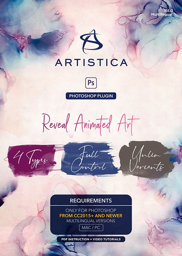 Artistica Photoshop Plugin For Watercolor Effects Animation - Utilities Actions