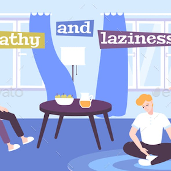 Apathy And Laziness Flat Poster