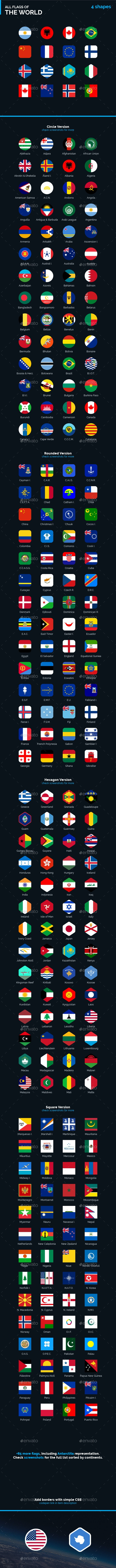 Flags of the World - Flag Icon Bundle - Web Icons