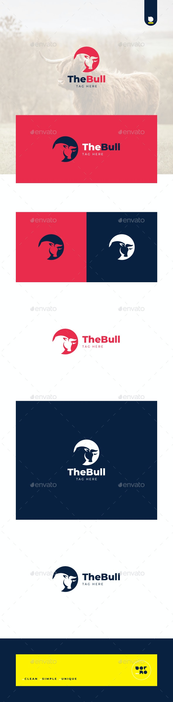 The Bull - Animals Logo Templates
