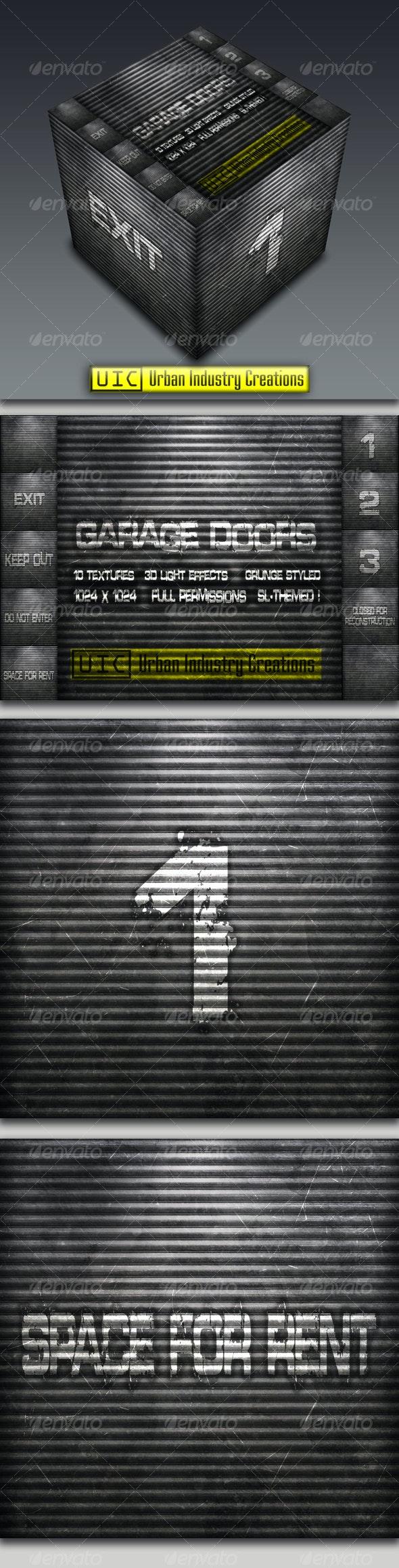UIC Grunge Garage Door Textures Vol.1 - Industrial / Grunge Textures