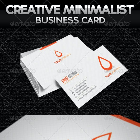 Creative Minimalist Business Card