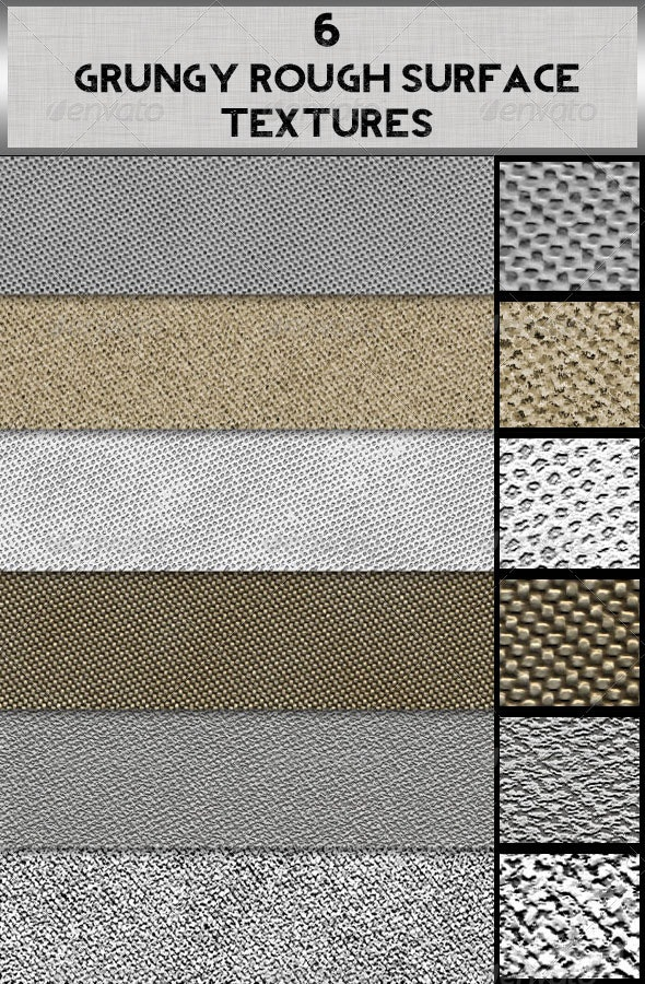 6 Grungy Rough Surface Textures - Patterns Backgrounds