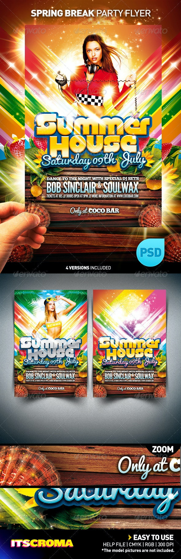 Spring Break Flyer / Summer House - Clubs & Parties Events