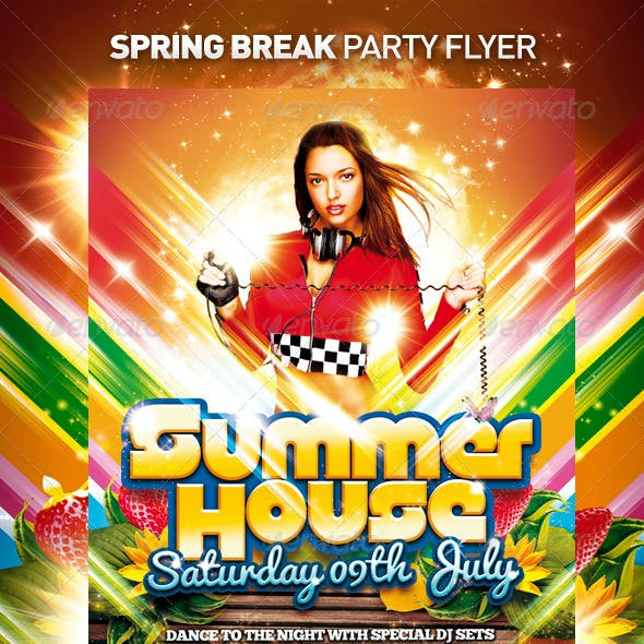 Spring Break Flyer / Summer House