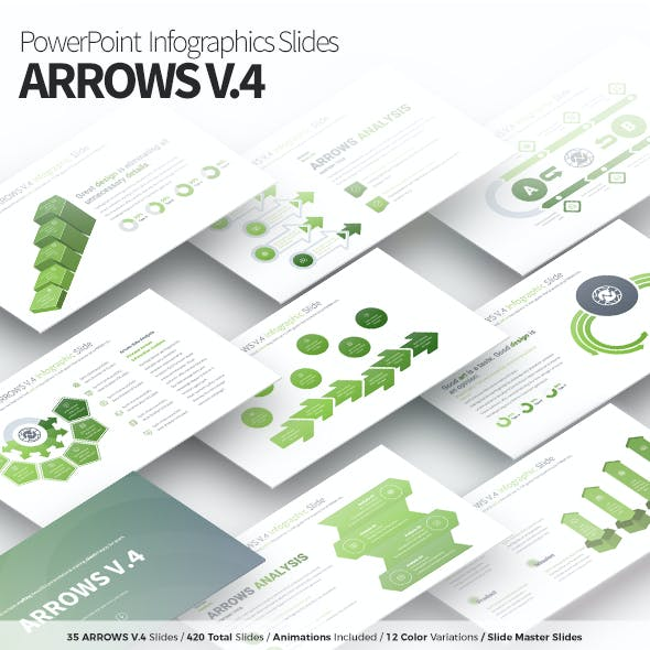 Arrows V.4 - PowerPoint Infographics Slides