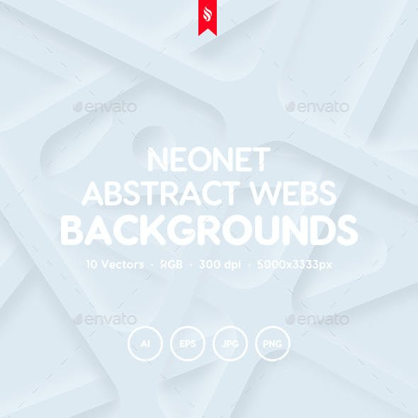 Neonet - Abstract Webs Background Set