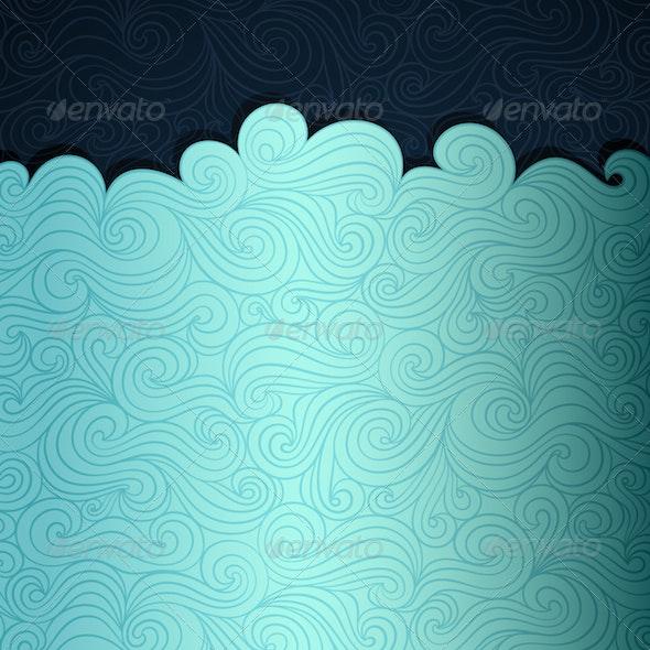 Sea Banner - Abstract Conceptual