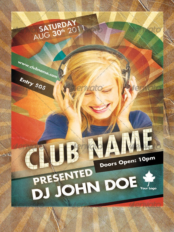 Retro Music Flyer - Clubs & Parties Events
