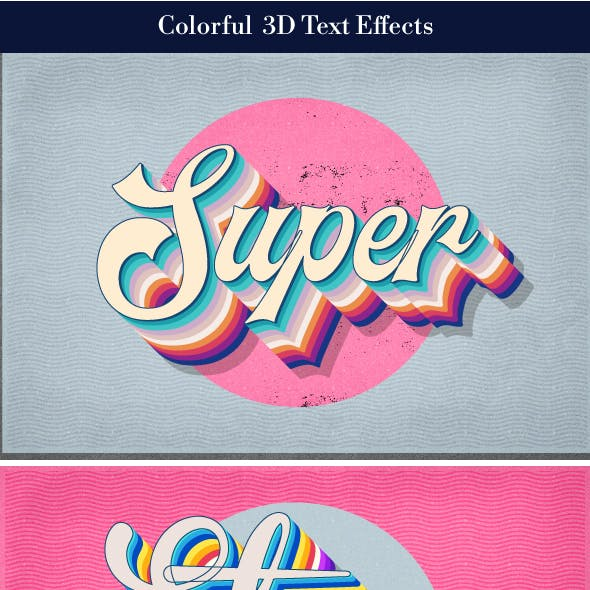 Colorful 3d Text Effects