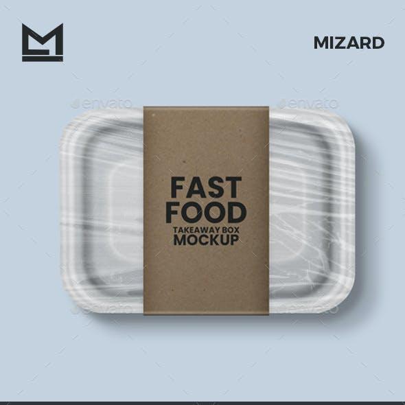 Disposable Food Box Mockup
