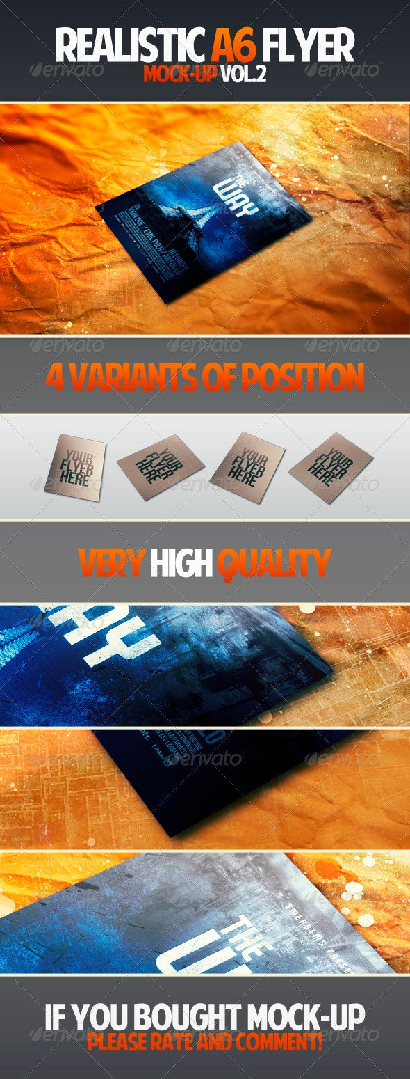Realistic A6 Flyer Mock-up Vol.2 - Flyers Print