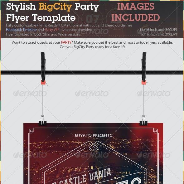 Stylish BigCity Party Flyer Template