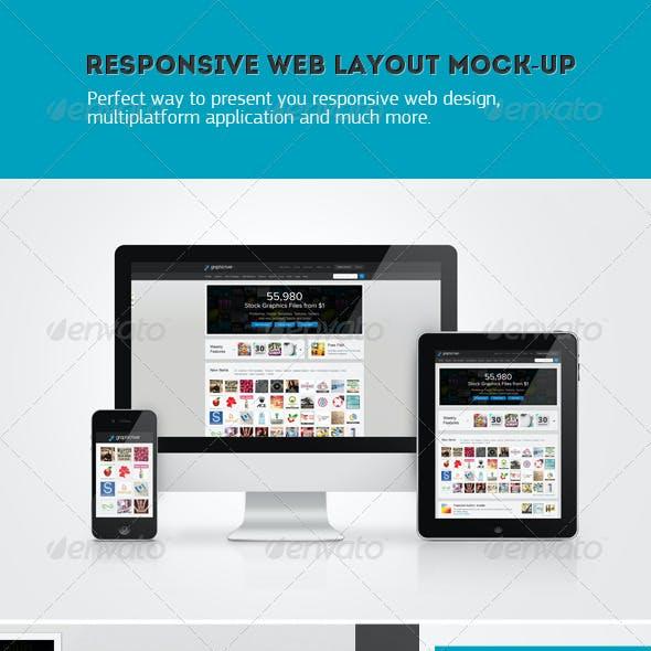Responsive Web Layout Mockup