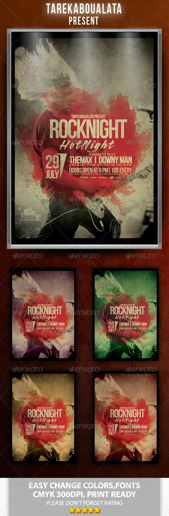Rock Night Flyer/Poster - Clubs & Parties Events