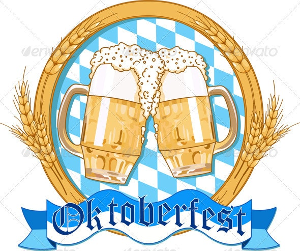 Oktoberfest  label design - Backgrounds Decorative