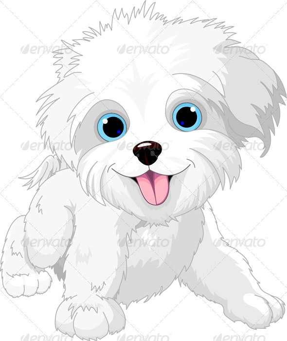 Playful lap-dog - Animals Characters