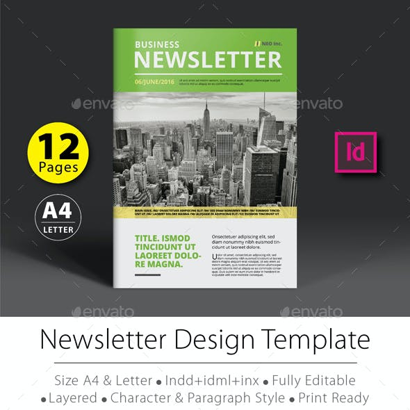 12 Pages Newsletter Design Template V.2