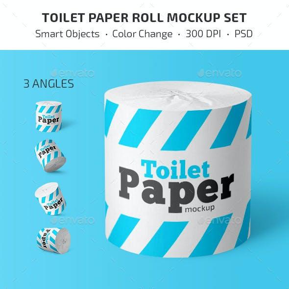 Toilet Paper Roll Mockup Set