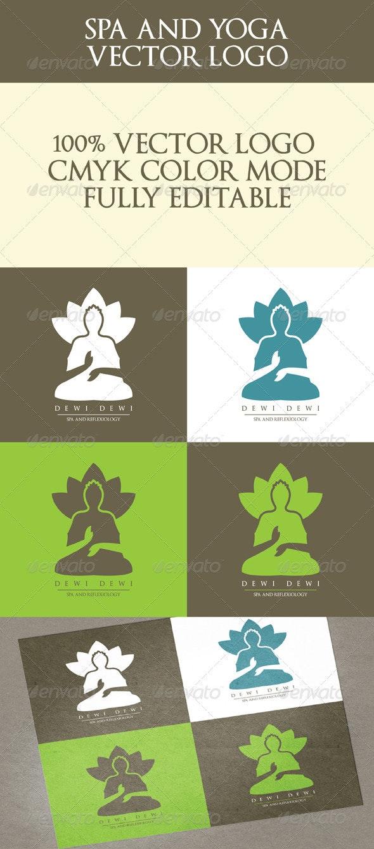 Spa and Yoga Logo - Humans Logo Templates
