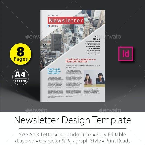 8 Pages Newsletter Design Template V.1