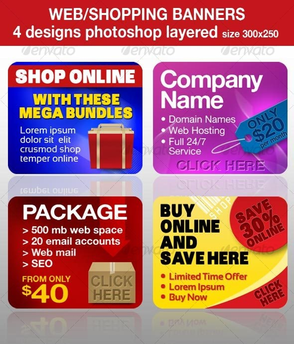Web/Shopping Banners, Advertisements - Miscellaneous Web Elements