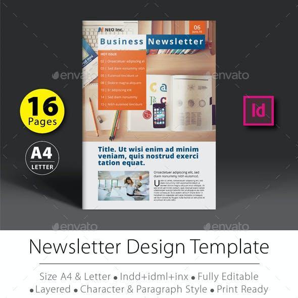 16 Pages Newsletter Design Template V.1