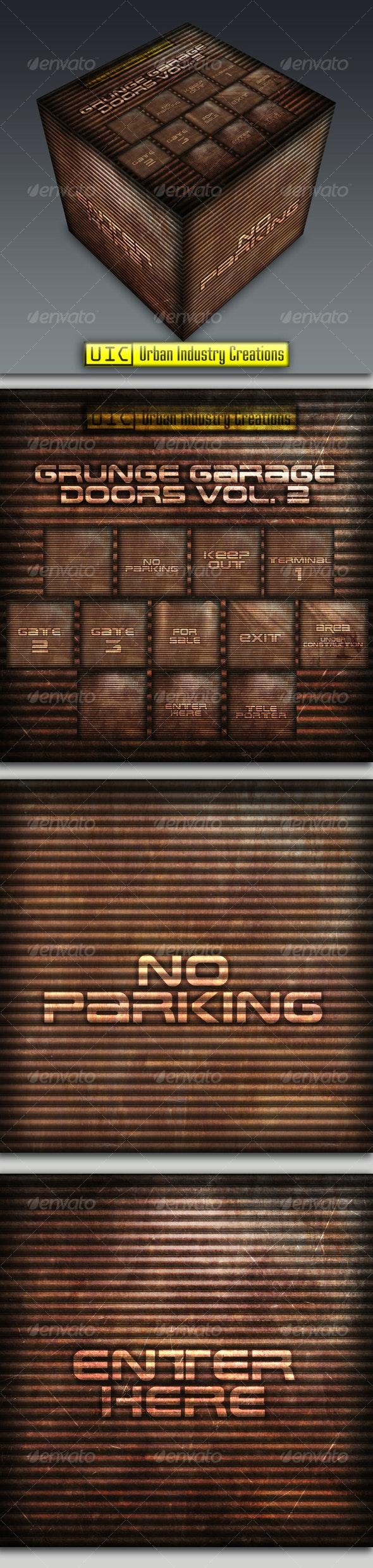 UIC Grunge Garage Door Textures Vol.2 - Industrial / Grunge Textures