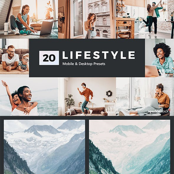 20 Lifestyle Lightroom Presets and LUTs