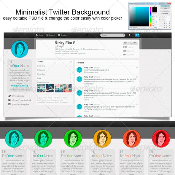 Minimalist Twitter Background
