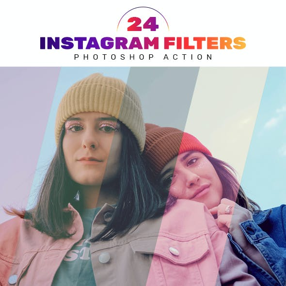 24 Instagram Filters Photoshop Actions