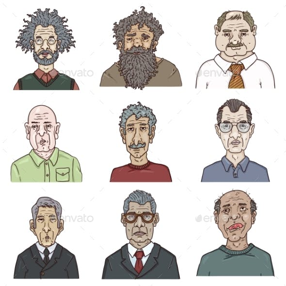 Vector Set of Cartoon Characters