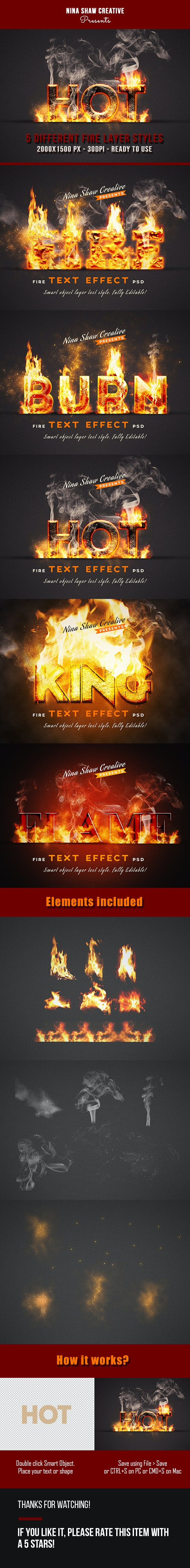 Fire Text Effects - Text Effects Actions