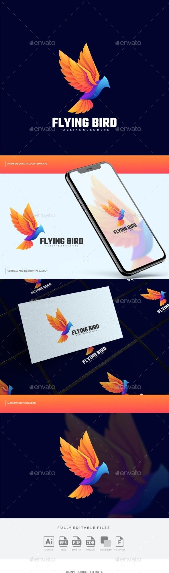 Bird Gradient Colorful Logo Template - Animals Logo Templates