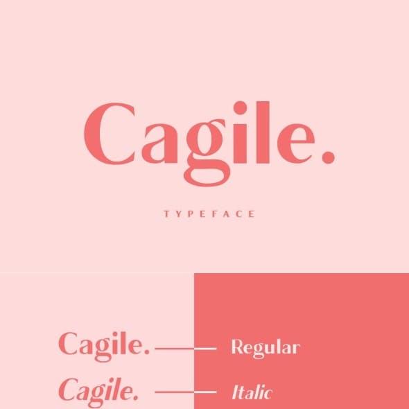 Cagile - elegant font