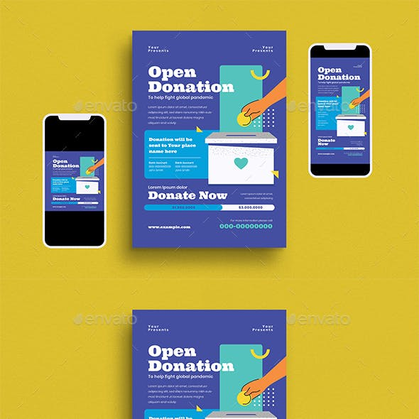 Open Donation Flyer Set
