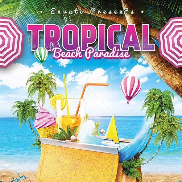 Tropical Beach Flyer