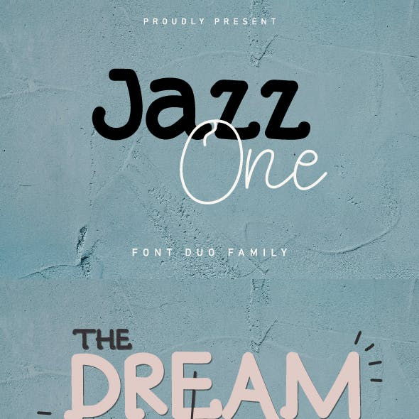 Jazz one Font Duo