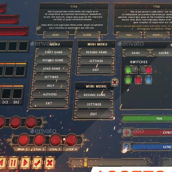 Assets: UI [RPG, MMO, RTS]: WERDANTA #03
