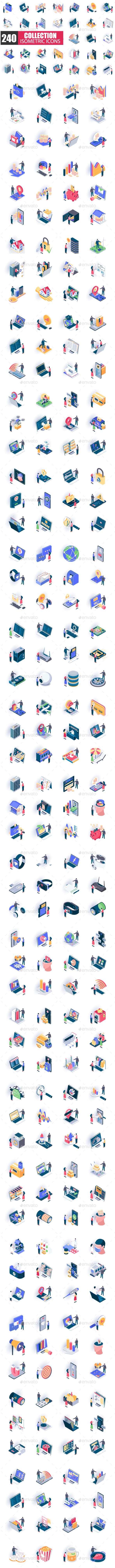 Unique Isometric Icons Pack - Business Icons