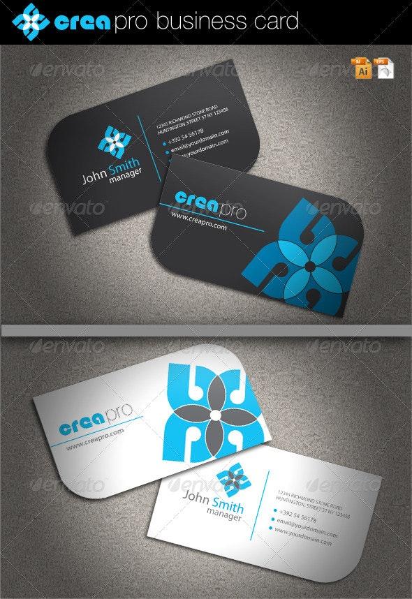 Crea Pro Business Card - Corporate Business Cards